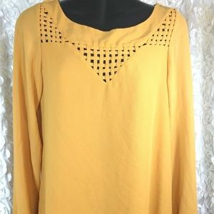 Lost April womens Small long sleeve Blouse thin we